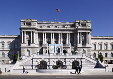 Kongressbibliothek - Vorderansicht Stockbild