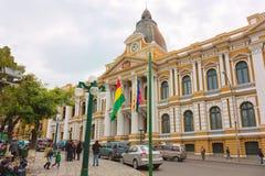 Kongressbyggnad i La Paz Arkivbild