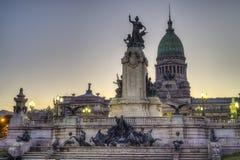 Kongressfyrkant i Buenos Aires, Argentina Arkivfoto