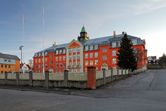 Kongsbakken upper secondary school in Tromso Stock Image