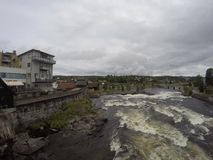 Kongsberg in norway. Norway is Beautiful country ,nice weather and have waterfall in the city centre Stock Image