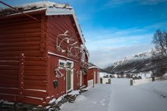 Kongsvold Fjeldstue, Dovre Fjell, Noorwegen Royalty-vrije Stock Foto's