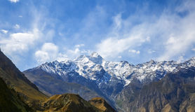 Kongur peak. Is the West Kunlun Mountains the first peak, 7530 meters above sea level, located in Akto county. Xinjiang, China Royalty Free Stock Images