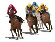 Koni ścigać się rywalizacja royalty ilustracja
