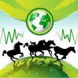 koni target1567_1_ Obrazy Stock