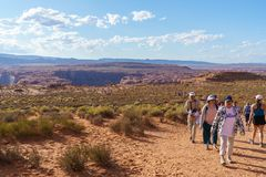 Konia buta chył, Kolorado rzeka w stronie, Arizona usa Obrazy Stock