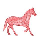 Konia chińczyka zodiak ilustracja wektor