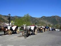 Konia & frachtów Mijas wioska Obraz Stock