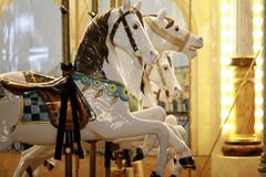 Konia francuza Carousel obrazy royalty free