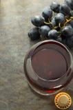 Koniaków winogrona i szkło Obraz Stock