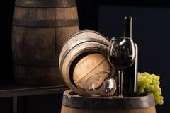 koniak bocznej piwnicy oak wino tam Zdjęcia Stock