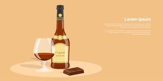 Koniak i czekolada Zdjęcia Stock