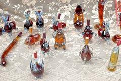 Koniak w prezent butelkach Obrazy Stock