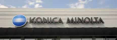 Konica Minolta Company Sign Stock Photos