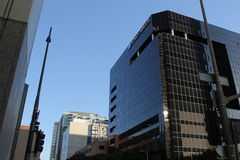 Konica Minolta im Stadtzentrum gelegenes Los Angeles Lizenzfreies Stockfoto