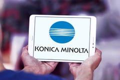 Konica Minolta technologii firmy logo obrazy royalty free