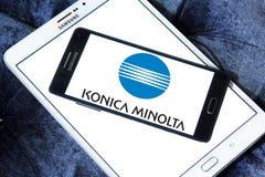Konica Minolta technologii firmy logo fotografia royalty free