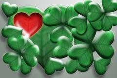 Koniczyna - serce Royalty Ilustracja