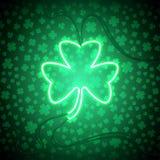 Koniczynowa neonowa lampa Zdjęcia Royalty Free