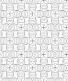 Koniczynowi liście, czarny i biały abstrakcjonistyczny bezszwowy wzór. Ilustracji