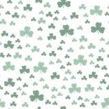 Koniczynowy liść zieleni wzór bezszwowy ilustracja wektor