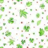 koniczyny zieleni wzór Ilustracja Wektor