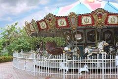 konie carrousel Obraz Royalty Free