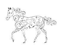 Konie od kędziorów Obrazy Royalty Free