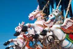 Konie z skrzydłami Fotografia Stock