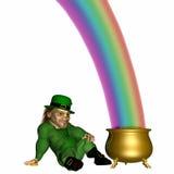 koniec 2 rainbow Zdjęcia Royalty Free