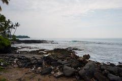 Koniec Duża wyspa Hawaje obraz royalty free