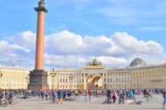 Koniec jeździć na rowerze na pałac kwadracie st Petersburg zdjęcie stock