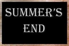 koniec jest lato fotografia stock