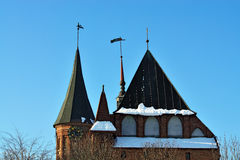 Konigsberg Cathedral on a winter evening. Kaliningrad (formerly Stock Photography