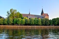 Konigsberg domkyrka på den Kneiphof ön Kaliningrad förr K Fotografering för Bildbyråer