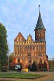 Konigsbergkathedraal in Kaliningrad Stock Afbeeldingen