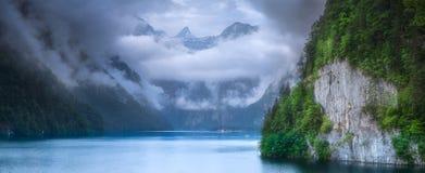 Konigsee湖在贝希特斯加登国家公园 库存图片