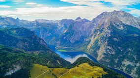 Konigsee from Berchtesgaden Royalty Free Stock Photography