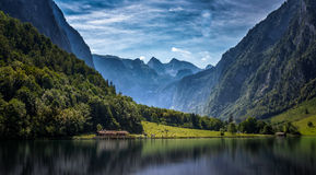 Konigsee, Germany. Mountains in Konigsee Germany (Austrian Border Royalty Free Stock Photos