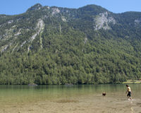 Konigsee. Hiking through the Bavarian Alps of Southern Germany stock images