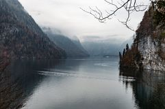 Konigsee lake in Berchtesgaden National Park. stock images