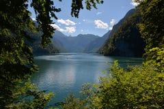 Konigsee lake. In Berchtesgaden park, Bavaria in Germany stock photo