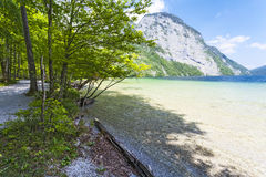 Konigsee lake. Germany. Crystal clear lake in the background of mountains Stock Images