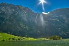 Konigsee lake mountain view Stock Photography