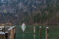 Konigsee lake. View from Konigsee lake, Berchtesgaden, Germany in the winter stock image