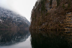 Konigsee lake. View from Konigsee lake, Berchtesgaden, Germany in the winter stock photo