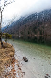 Konigsee lake. View from Konigsee lake, Berchtesgaden, Germany in the winter stock photos