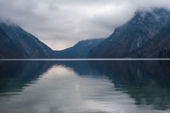 Konigsee lake. View from Konigsee lake, Berchtesgaden, Germany in the winter royalty free stock photography