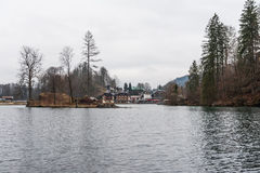 Konigsee lake. View from Konigsee lake, Berchtesgaden, Germany in the winter stock photography