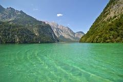 湖Konigssee 库存照片